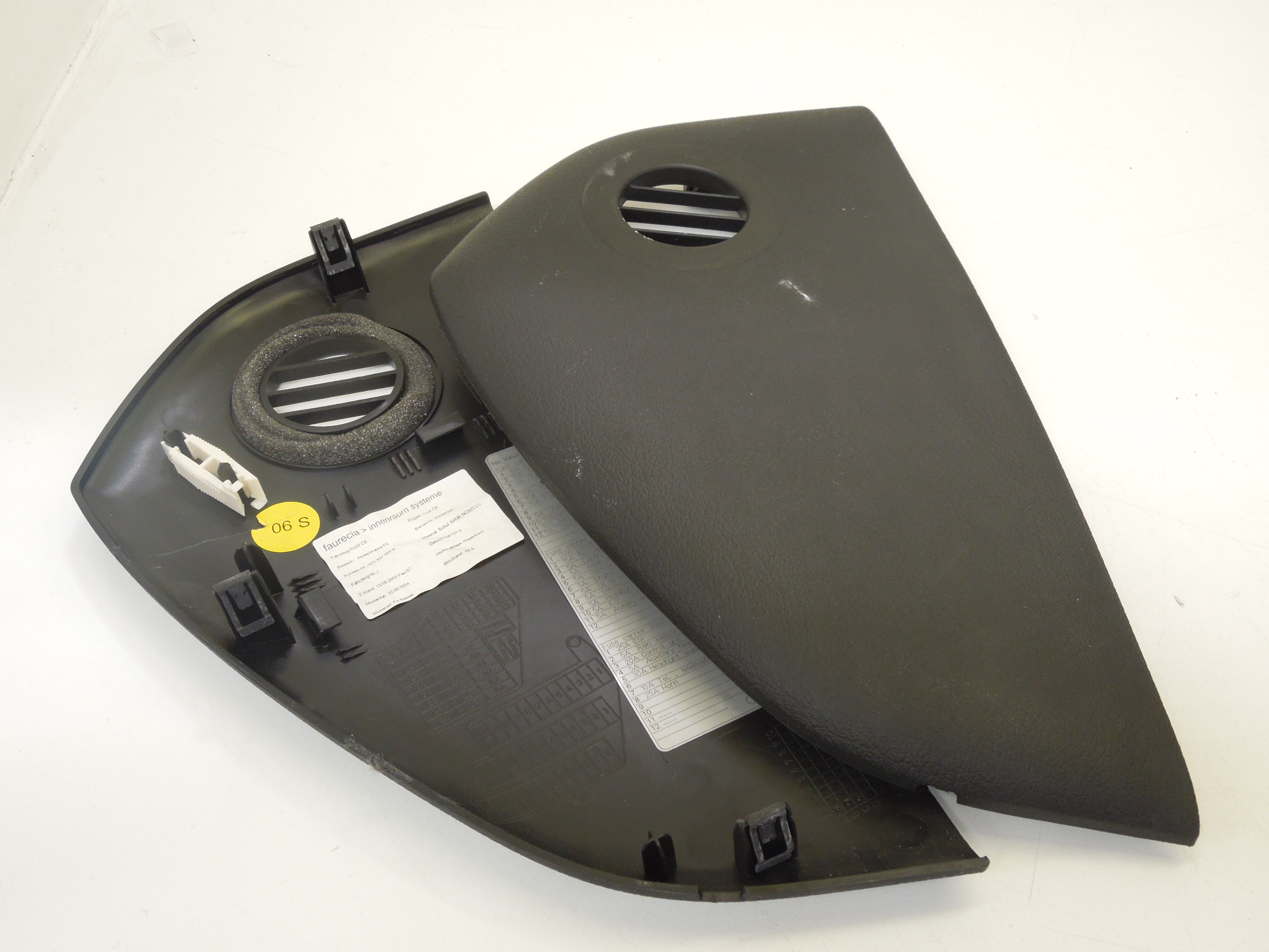 Audi A6 C6 Black Dashboard Ends Fuse Panel Covers Ebay Rs5 Box Image Is Loading