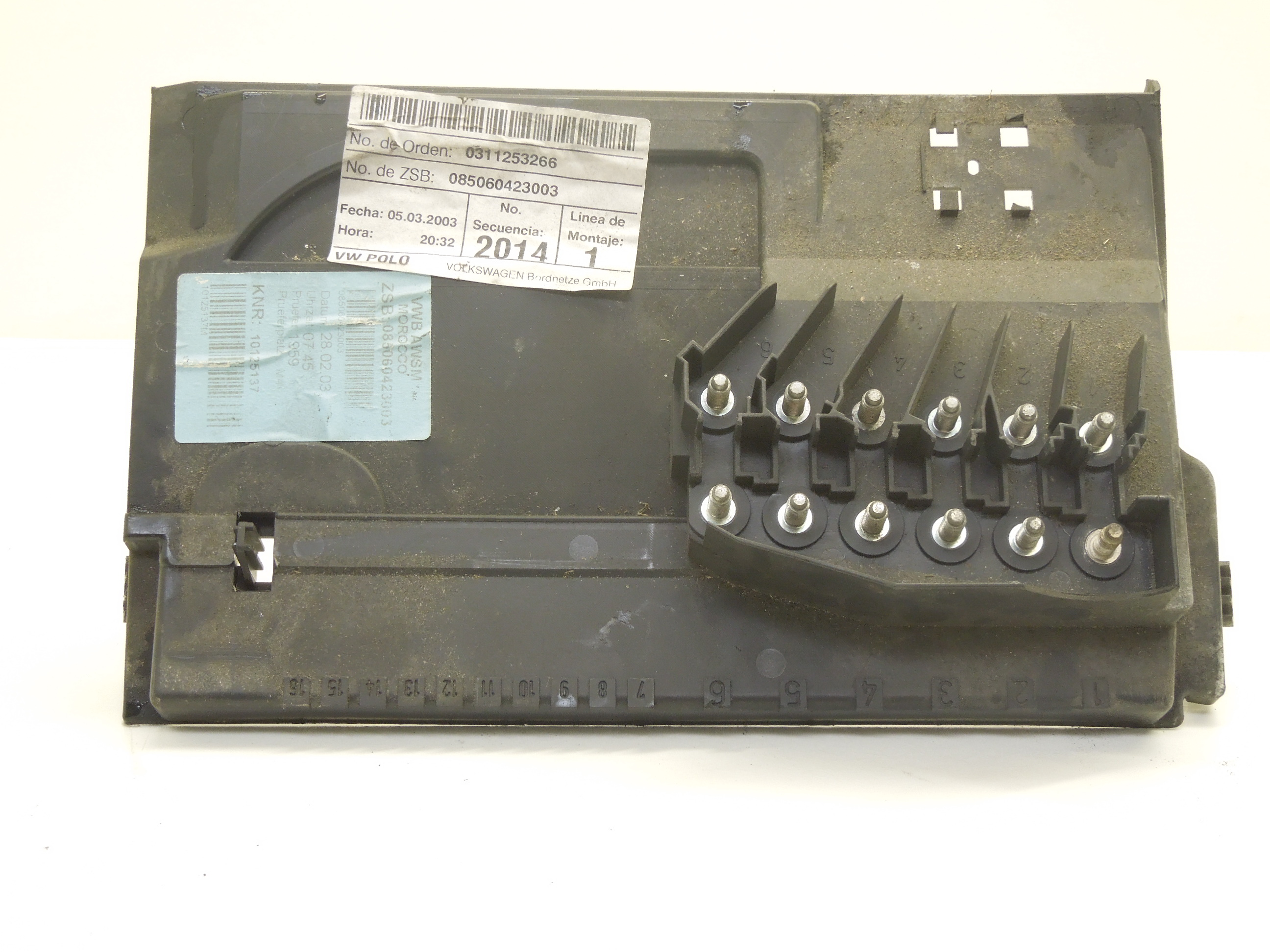 Image is loading VW-polo-9N-Battery-Box-Fuse-Holder-Battery-