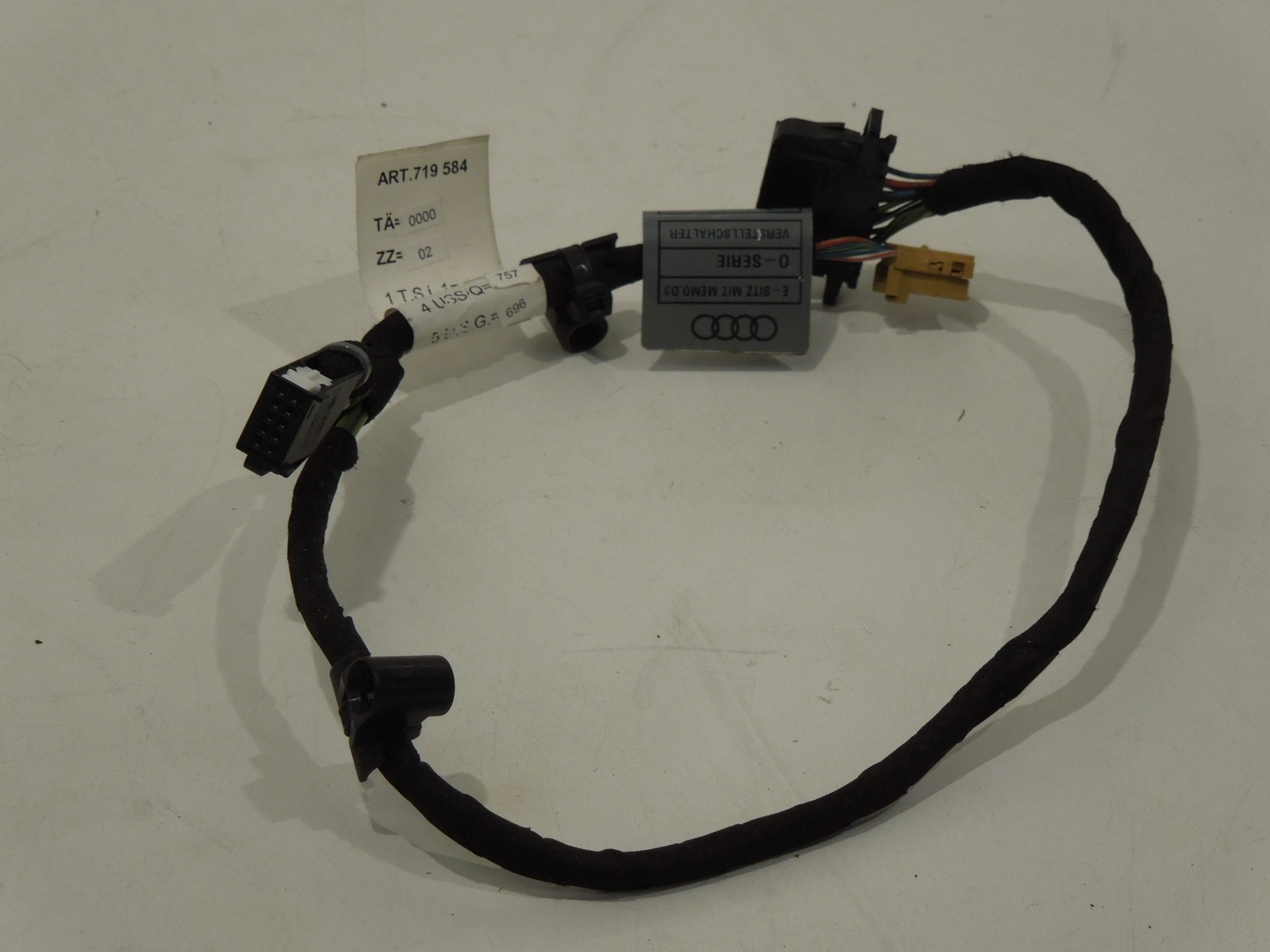 Audi A8 D3 Seat Wiring Loom For Memory Ebay Tt Dashboard Harness Image Is Loading